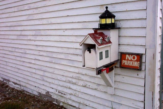 Lighthouse mailbox at the lighthouse living quarters at Fort Point State Park. Picture