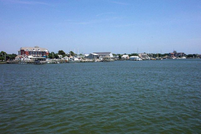 Approaching Ocracoke on the Cedar Island to Ocracoke ferry. Picture