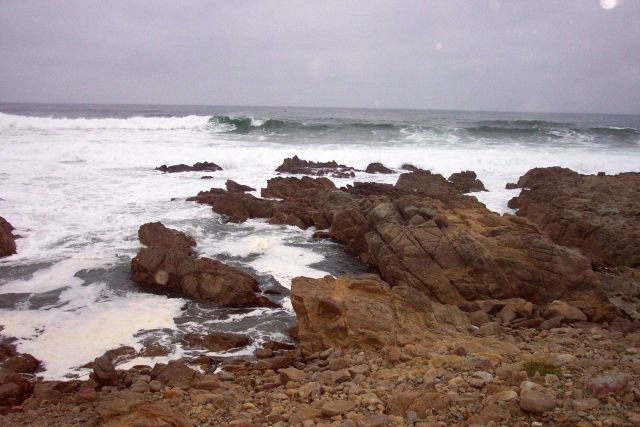Rock and surf at Asilomar State Park. Picture