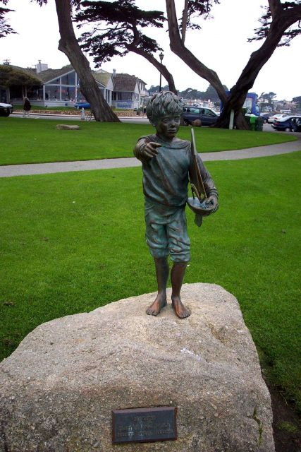 World War I era statue in Lovers' Point Park at Pacific Grove. Picture