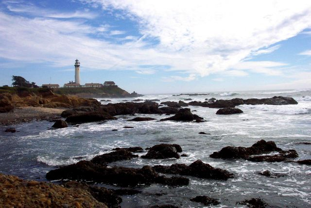 Pigeon Point Lighthouse as seen from the north. Picture