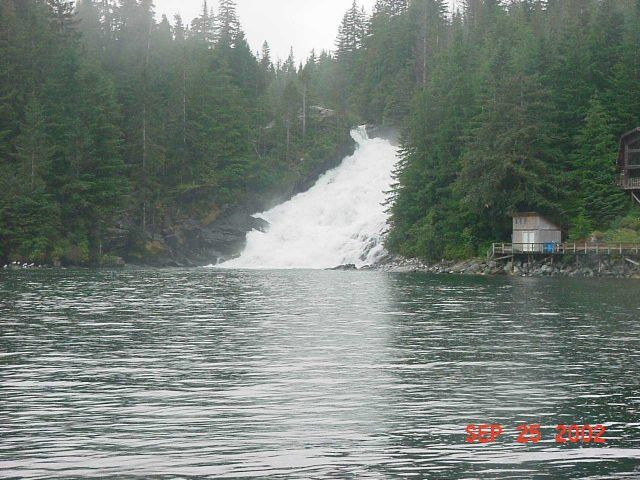 Waterfall at Hot Springs Bay. Picture