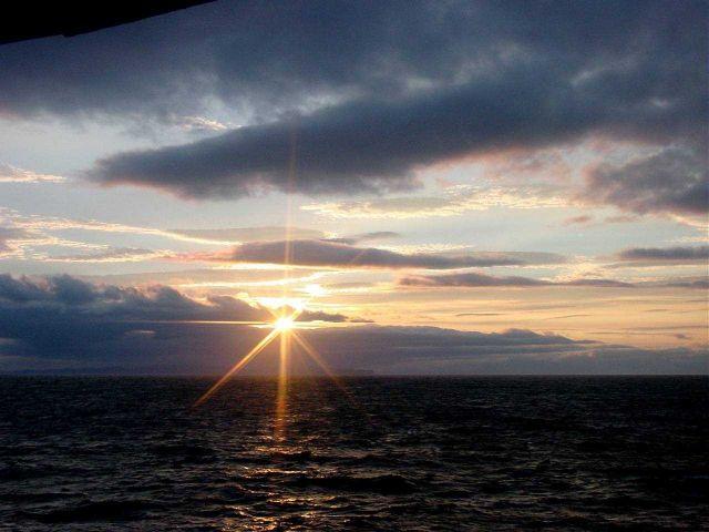 Gulf of Alaska sunset. Picture