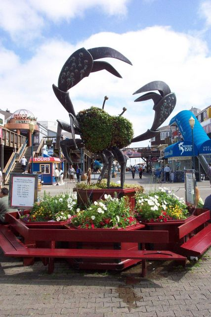 A crab sculpture on Pier 39, near Fisherman's Wharf. Picture