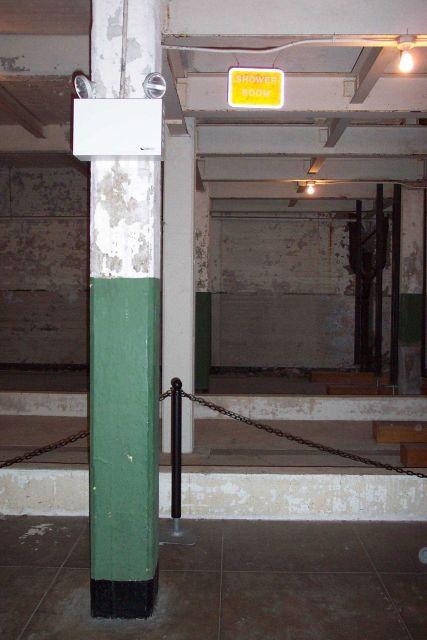 The prisoner shower room at Alcatraz. Picture