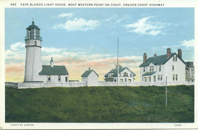 Cape Blanco Lighthouse, most westerly point on the Oregon coast. Picture