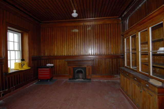 The living room of the Point Conception Lighthouse. Picture