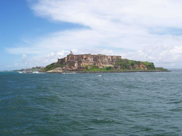 El Moro Castle guarding the entrance to San Juan Harbor. Picture