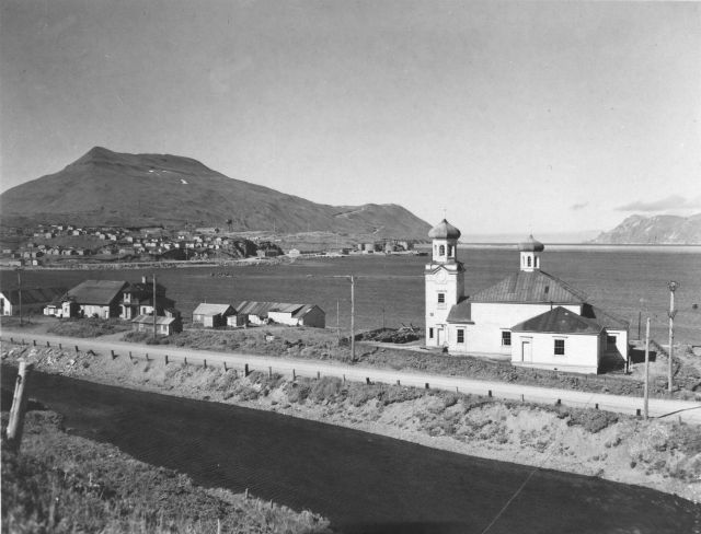 Russian Orthodox Church at Dutch Harbor. Picture