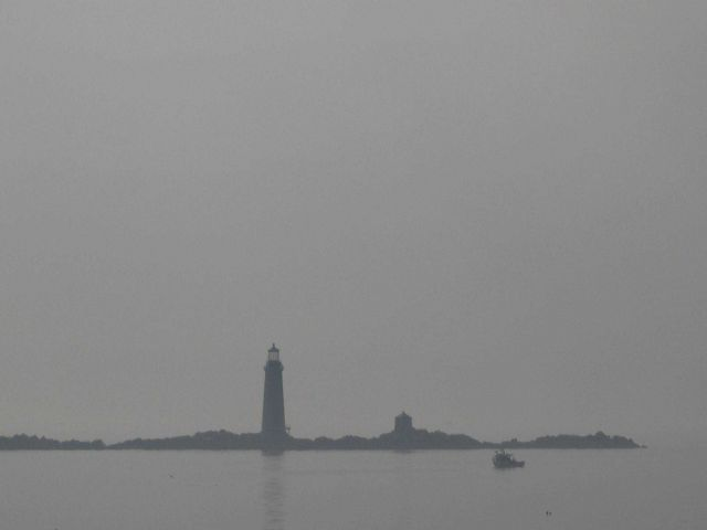 Graves Lighthouse, outer Boston harbor. Picture