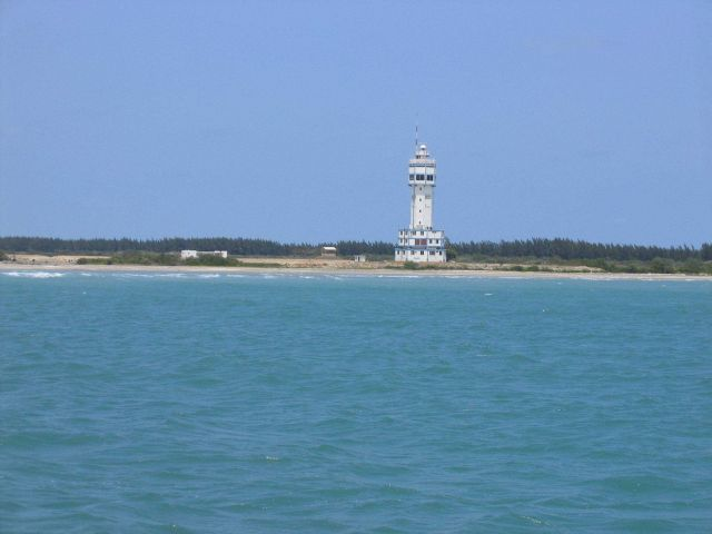 Altamira Lighthouse at entrance to Tampico Harbor. Picture
