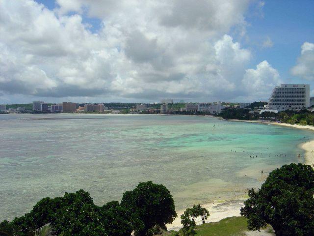 Tumon Bay resort area on the Guam coastline. Picture