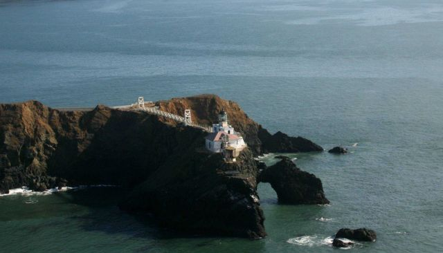 The Point Bonita Lighthouse at the northern entrance to the Golden Gate. Picture