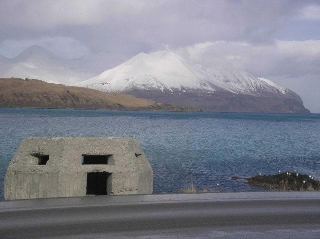 A World War II concrete bunker at Dutch Harbor. Picture