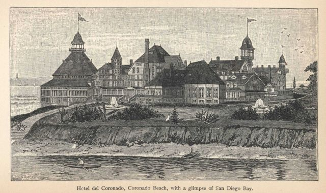 Hotel del Coronado, built in 1888, still a San Diego landmark In: