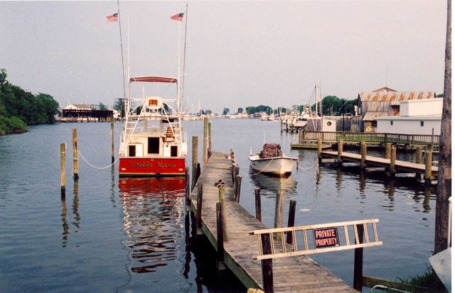 The fishing boat Stella Maris at Solomons Island. Picture