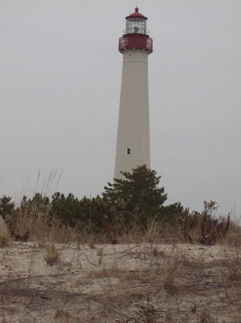 The Cape May Lighthouse standing as a sentinel for Delaware Bay entrance. Picture