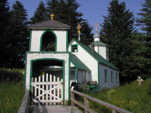 The Russian Orthodox Church on Spruce Island Picture