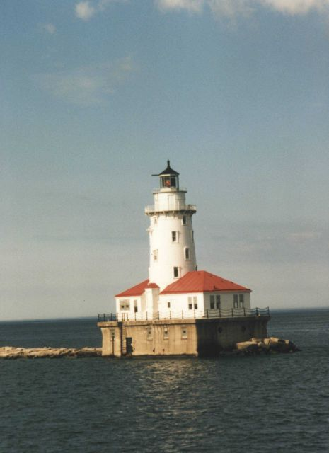 Chicago Breakwater Lighthouse on Lake Michigan Picture