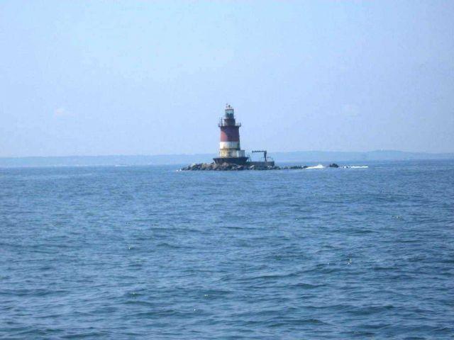 Romer Shoal Lighthouse, entering New York Harbor Picture