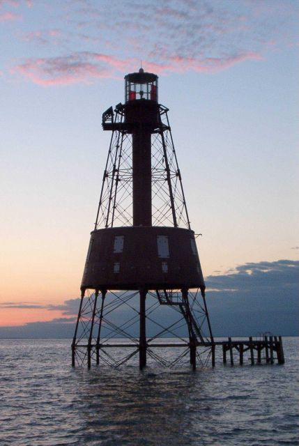 Carysfort Reef Lighthouse at sunset Picture