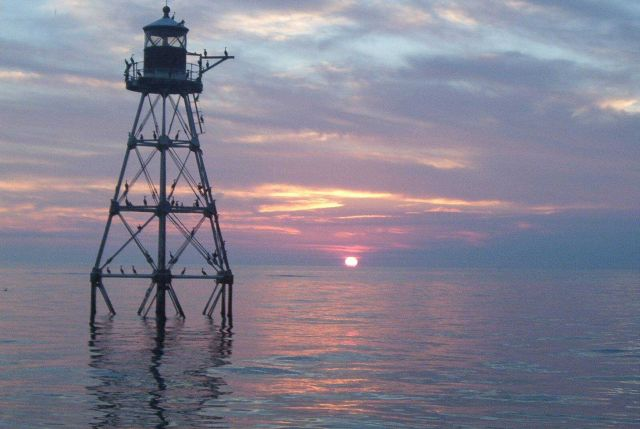 Tennessee Reef Lighthouse at sunset Picture
