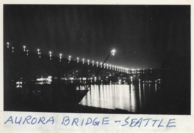 The Aurora Bridge (also known as the George Washington Memorial Bridge) at night Picture