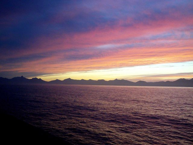 Sunset in Shelikof Strait. Picture