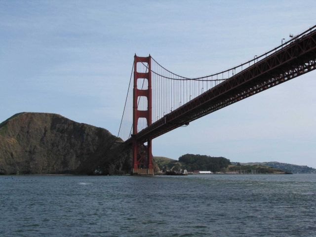 North Pier of the Golden Gate Bridge. Picture