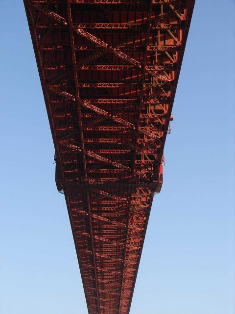 Directly under the Golden Gate Bridge. Picture
