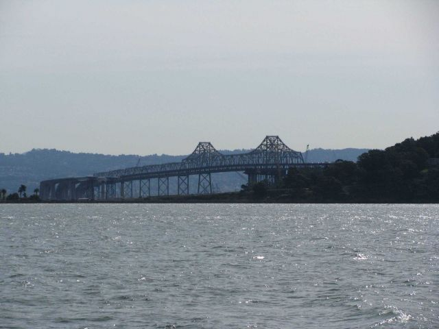 East span of the San Francisco Bay Bridge seen from the north prior to the completion of the new East Span. Picture