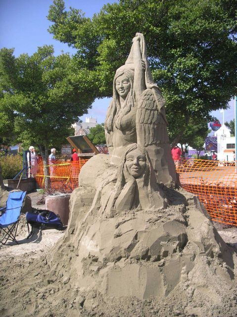 Sand sculpture at annual Arts in Action festival at Port Angeles. Picture
