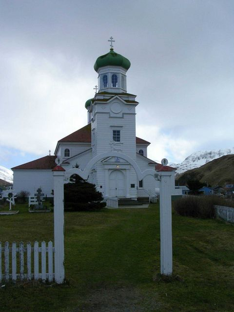 The Russian Orthodox Church at Dutch Harbor. Picture