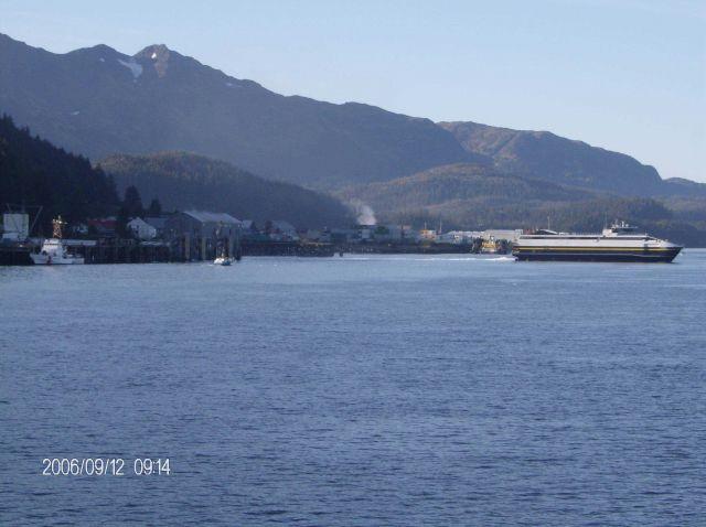Alaska ferry departing Cordova Picture