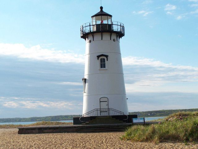 A Lighthouse near the coast. Picture