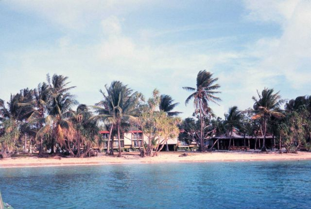 Beach front hotel on Majuro Picture