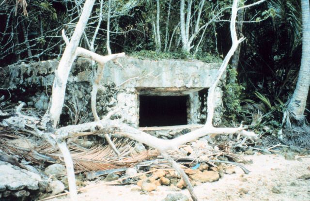 A World War II Japanese concrete bunker Picture