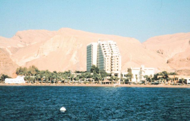 Resort hotel at Taba, Egypt in the northern Gulf of Aqaba. Picture