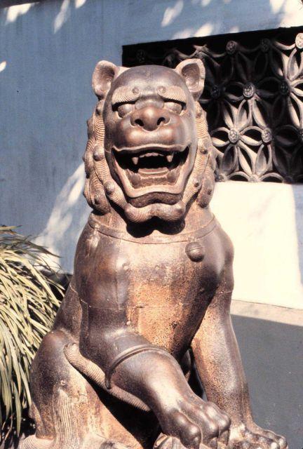 A lion statue. Picture