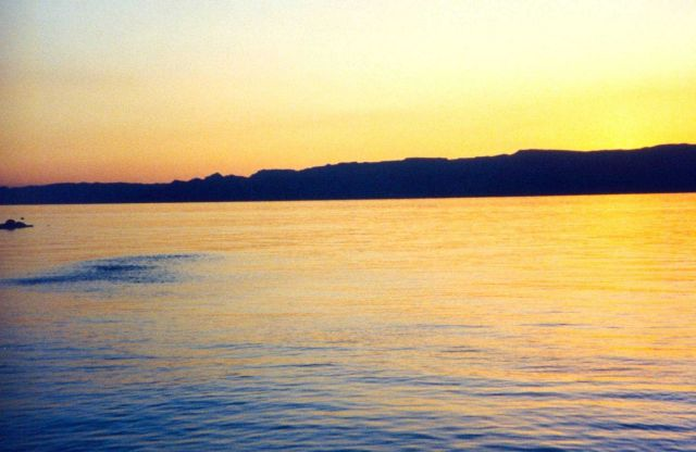 Red Sea sunset. Picture