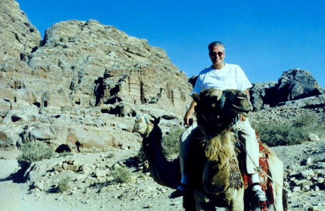 Ben Mieremet riding a camel. Picture