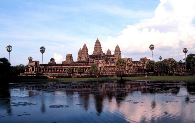 The temple at Angkor Wat Picture