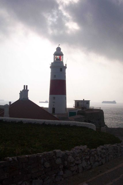 The Europa Point Lighthouse at Gibraltar. Picture