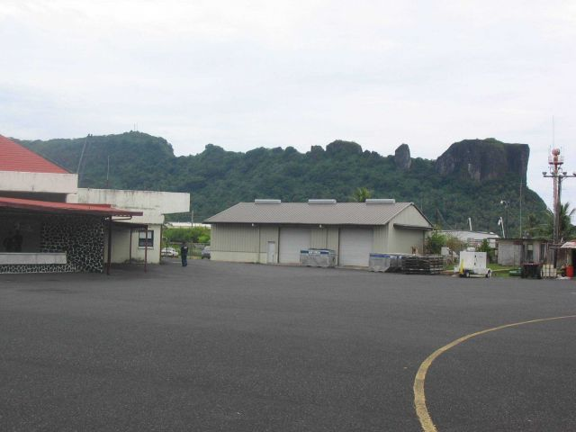 Pohnpei International Airport with Sokehs Ridge in background. Picture