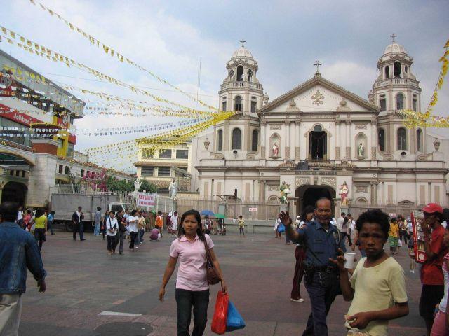 Quiapo Church and Square. Picture
