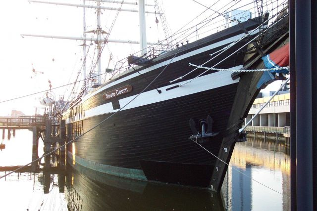 The sailing ship Seute Deern at the Bremerhaven Maritime Museum. Picture