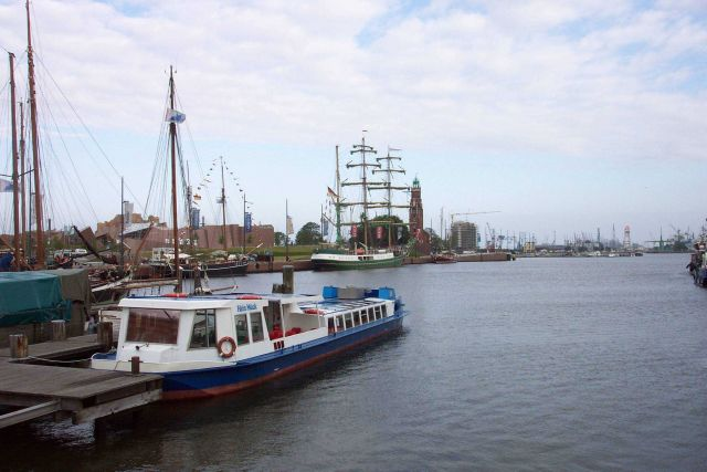 Some of the ships of the Bremerhaven Maritime Museum. Picture