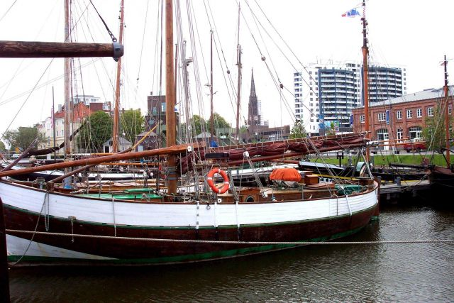 Boats of the Bremerhaven Maritime Museum. Picture