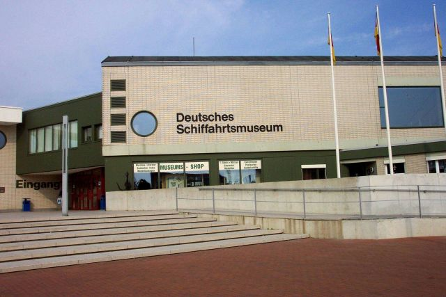 The entrance to the Maritime Museum at Bremerhaven. Picture