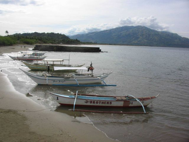 Fishing boats and dive boats at Pandan Island. Picture